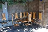 Место отдыха общий дворик для номеров с отдельным входом